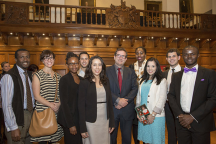 11-Students from Osgoode Hall Law School with Dean Lorne Sossin