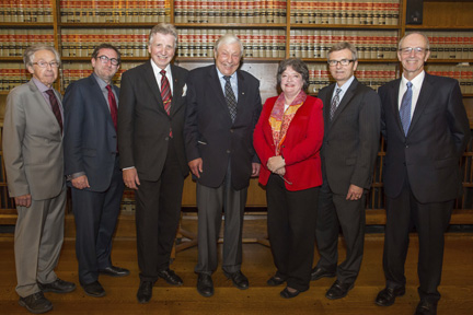 12-Jean Chevrier, Lorne Sossin, Gerald Gummersell, the Honourable Roy McMurtry, Janet Minor, Patrick Monahan and George Strathy
