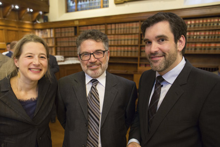 8-Federal Justice Department Legal Advisor Catherine Chevrier, New Federation House Vice President Denis Daigneault and Law Professor Benjamin Berger